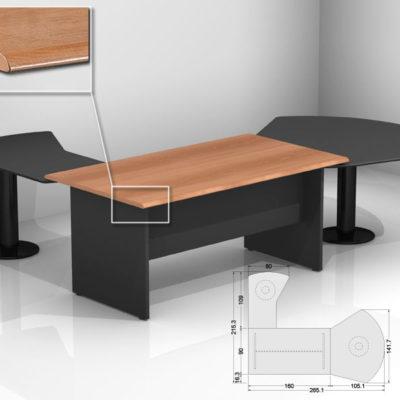 Scrivania ufficio scrivania ufficio nera dattilo - Scrivania cristallo ufficio ...