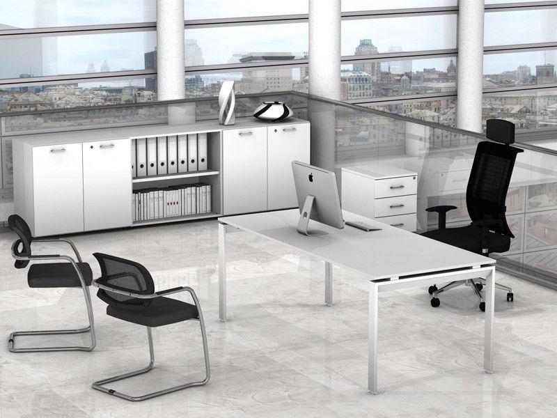 Ufficio Direzionale Bianco : Arredo ufficio direzionale cassettiera mobile scrivania scacco az