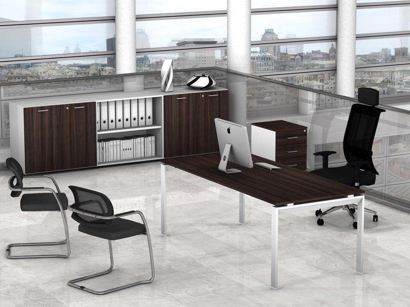 Scrivania Ufficio Occasione : Arredo ufficio direzionale cassettiera mobile scrivania scacco az