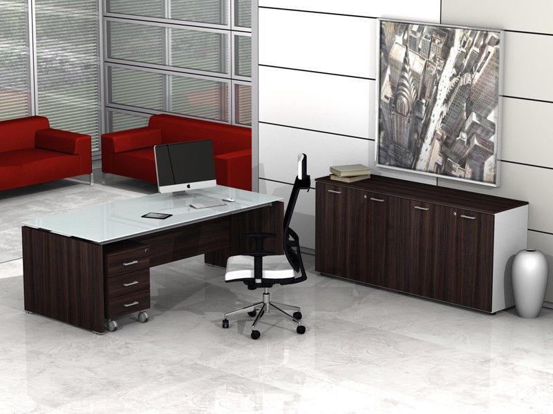 Ufficio Arredo Completo Usato : Arredo ufficio completo direzionale piano in vetro beta evo az