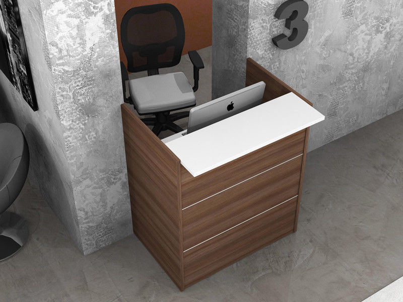 Ufficio Legno Bianco : Reception scrivania ufficio con mensola legno az sconti