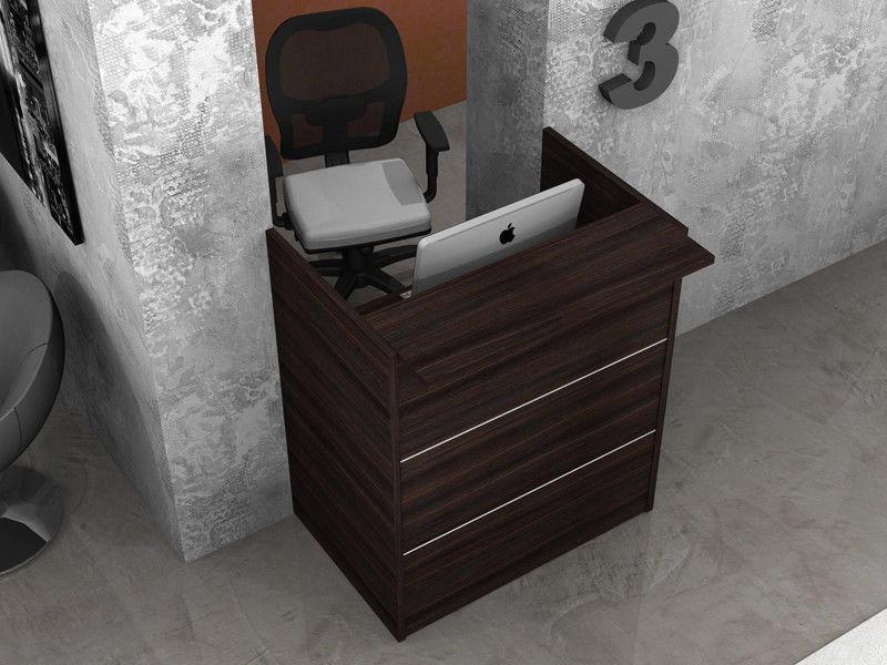 Reception scrivania ufficio con mensola legno az sconti